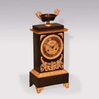 A 19th Century bronze and ormolu French Clock