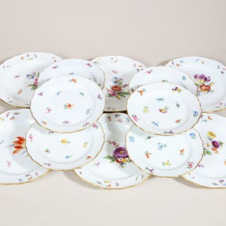 SET OF 12 MEISSEN PLATES