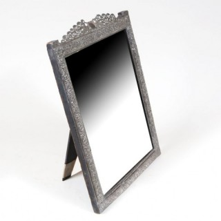 INDIAN SILVER DRESSING TABLE MIRROR