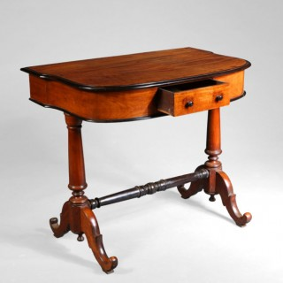 INDO DUTCH SOLID SATINWOOD AND EBONY SIDE TABLE
