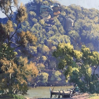 Lazy Afternoon on the River, Gunderman byWarwick Fuller