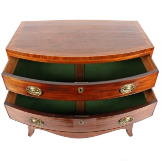 Georgian Hepplewhite Bow Front Chest