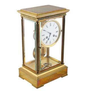 Victorian Four Glass Mantel Clock