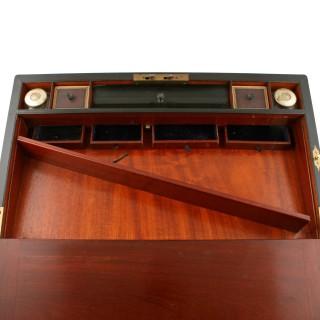 Fine Burr Walnut & Ebony Box Desk