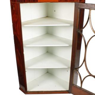 Georgian Hanging Corner Cabinet