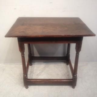 Queen Anne oak side table.