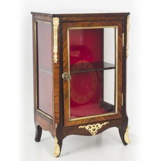 Antique Miniature kingwood bijouterie table top cabinet with ormolu mounts 19thC