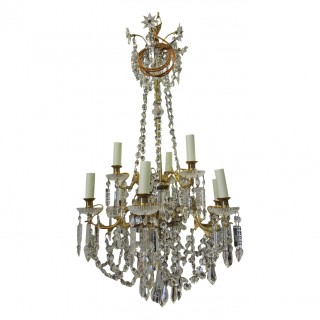 Victorian Cut Glass Chandelier