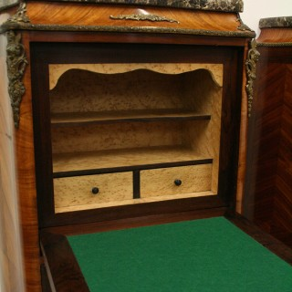 Matched Pair of French Ormolu Mount Secretaire Chests