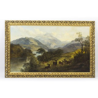Antique Oil Painting by Scottish artist Joseph Denovan Adams Signed 1865