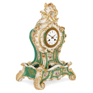 Porcelain clock in the Louis XV style, by Jacob Petit