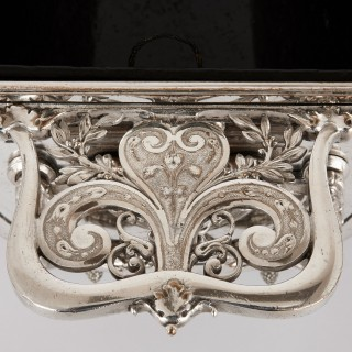Silver plated jardiniere in the Renaissance style