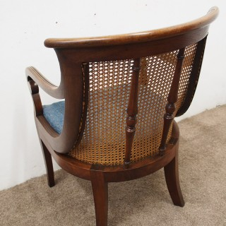 Regency Mahogany Bergere Library Chair