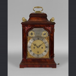 "A fine George III bracket clock in a ""bell top"" case by JOHN JACKSON, London c1770"