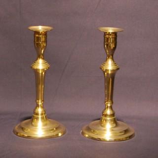 Pair of George III period Brass Candlesticks