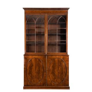 Tall George III mahogany bookcase