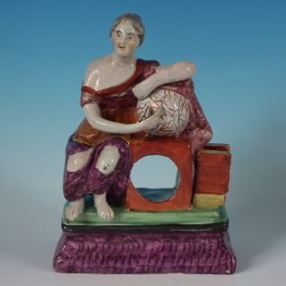 Staffordshire Pearlware Urania Watch Holder