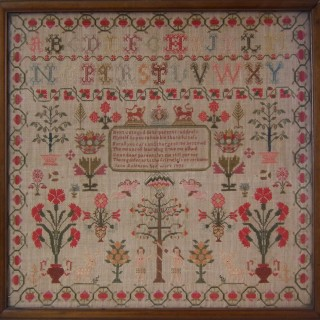 Antique Sampler, 1833, by Jane Robinson