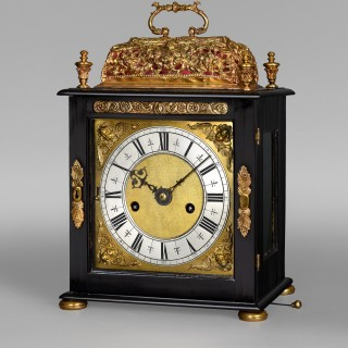 A small yet imposing Charles II quarter repeating spring table clock by HENRY JONES in the Temple, London c1685