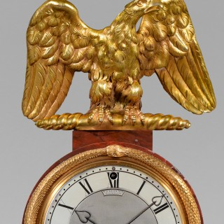 A fine regency mantel timepiece in a rouge marble and ormolu case by  Vulliamy No. 598, London c1810
