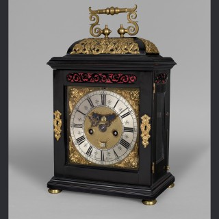 A fine William and Mary quarter repeating spring table clock by DANIEL QUARE, London c1695