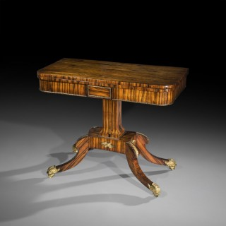 Regency Ormolu Mounted Calamander Card Table