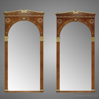 A Large and Impressive Pair of Empire Style Mirrors