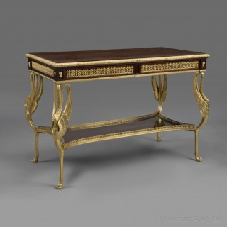 A Fine Empire Revival Centre Table With Swan Leg Supports