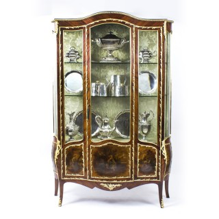 Antique French Large Vernis Martin Display Cabinet C1880