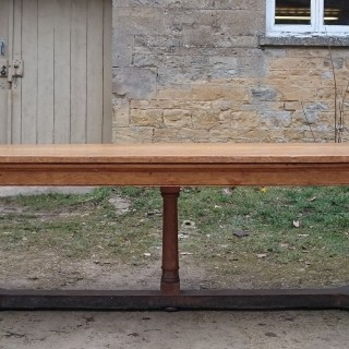 20th Century Arts and Crafts Antique Oak Refectory Dining Table By Beresford And Hicks