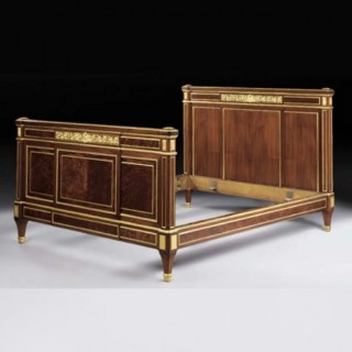 FRENCH ORMOLU-MOUNTED MAHOGANY BED BY GERVAIS-MAXIMILIEN-EUGÈNE DURAND