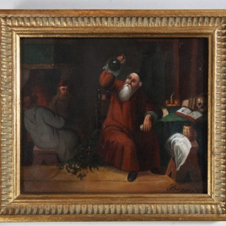 A PAIR OF DUTCH OIL PAINTINGS ON COPPER WITH TAVERN SCENES