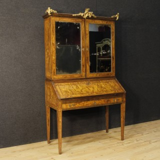 Italian Trumeau Louis XVI In Rosewood, Walnut, Burl Walnut From 18th Century