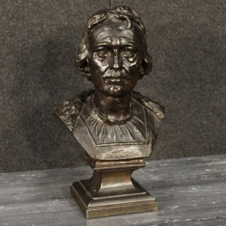 Italian In Chiseled And Bronzed Metal Bust Representing A Noble Figure From 20th Century