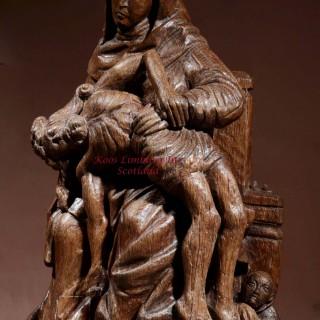 Medieval Gothic Carved Oak Pieta Sculpture Gelre Circa: 1500-1520