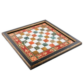 Victorian Reverse Painted Chessboard