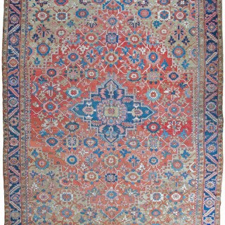 Antique Heriz carpet 'Mina-Khani' design