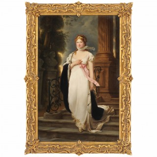 19th Century KPM porcelain plaque of the Queen of Prussia, Duchess Louise of Mecklenburg-Strelitz