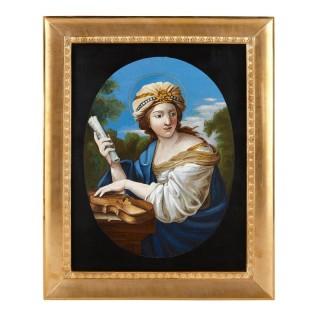 19th century Italian micromosaic portrait plaque
