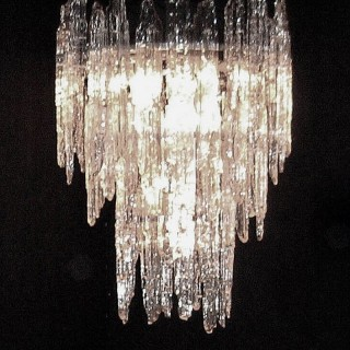 Murano Glass Melting Icicles Chandelier Light