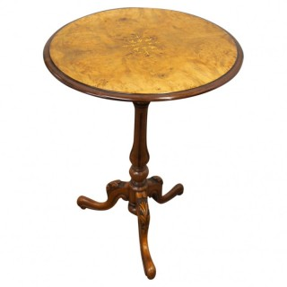 Victorian Inlaid Burr Walnut Occasional Table