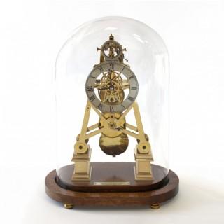 Skeleton Clock with Coup Perdu escapement