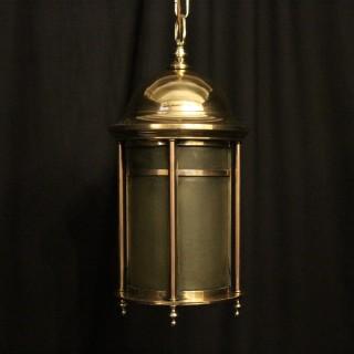 English Bronze Exterior Antique Lantern