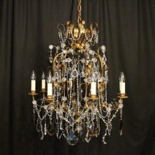 Italian Florentine 8 Light Decorative Chandelier