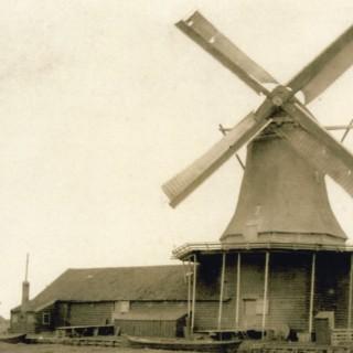 Dutch Gilded Silver Smith Model Windmill Amsterdam