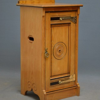 Aesthetic Movement Bedside Cabinet by Lamb of Manchester