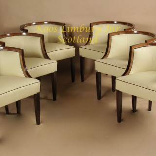 Magnificent art deco dining room suite, set table chairs sideboard