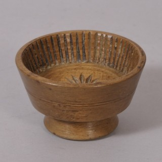 Antique Treen Small Georgian Sycamore Flummery Mould