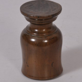 Antique Treen 18th Century Yew Wood Egg Cup