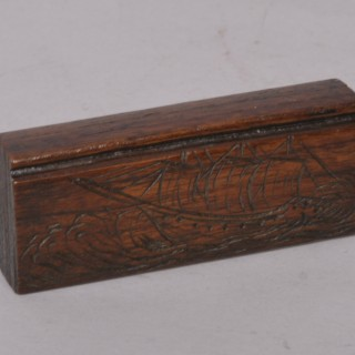 Antique Treen 19th Century Teak Ship Fragment
